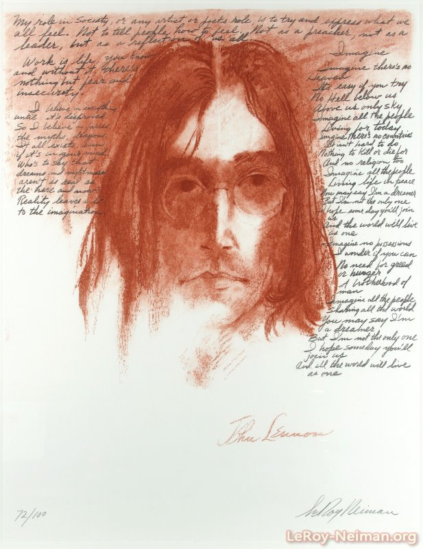 LeRoy Neiman John Lennon Imagine Painting