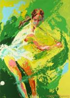 Backhand (chris Evert) by LeRoy Neiman