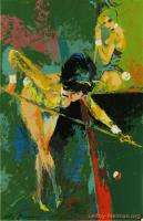 Bunnies Playing Pool by LeRoy Neiman