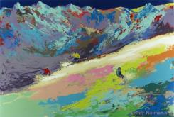 High Altitude Skiing by LeRoy Neiman