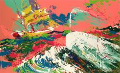 Moby Dick Assaulting The Pequod by LeRoy Neiman