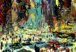 Plaza Square by LeRoy Neiman