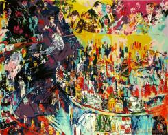 Toot's Shor Bar by LeRoy Neiman